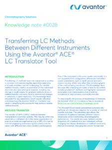 Transferring LC Methods Between Different Instruments